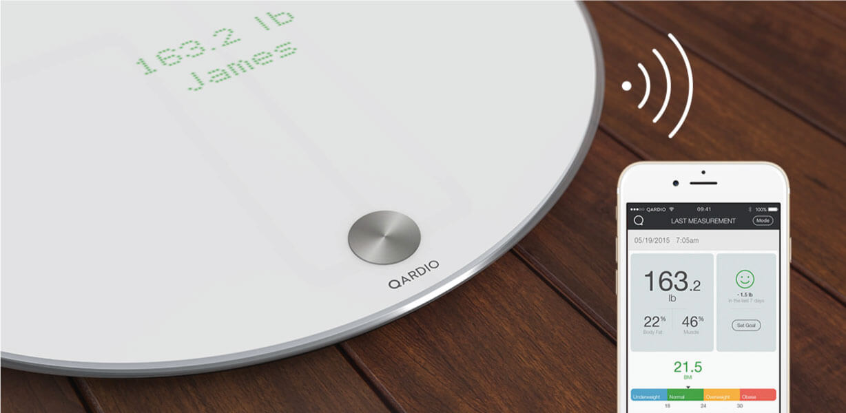 Smart scale body composition iPhone - QardioBase
