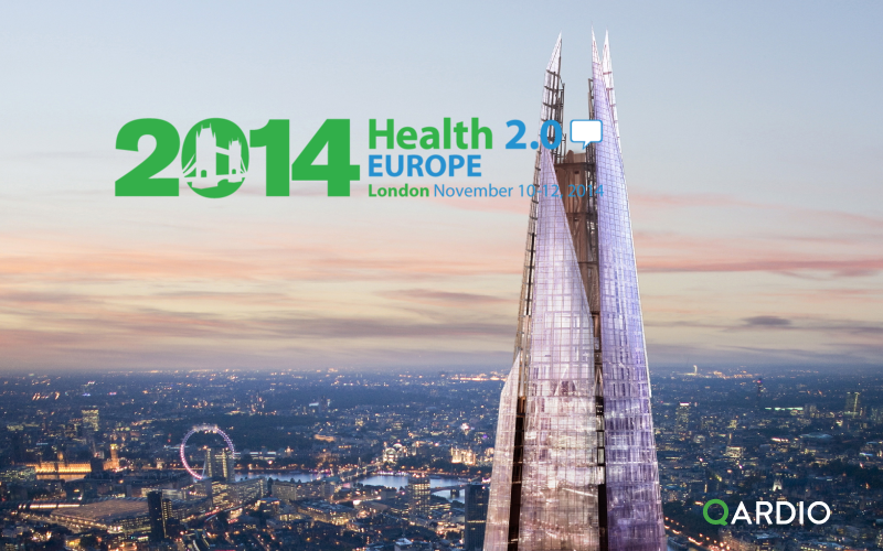 Qardio CEO Marco Peluso speaking at Health 2.0 in London