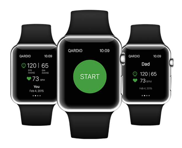 QardioArm Blood Pressure monitor on Apple Watch