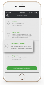 QardioBase has the mode to meet your needs - smart feedback mode