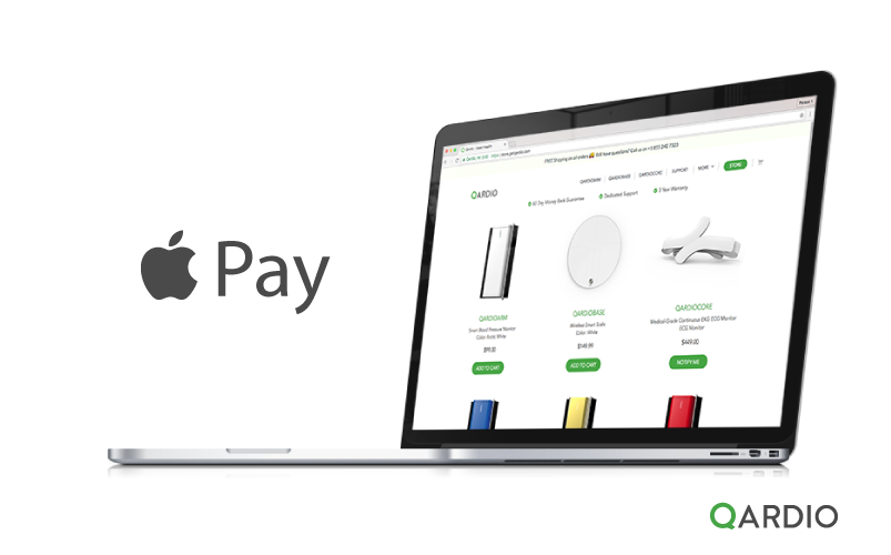 Qardio now accepting Apple Pay on Web