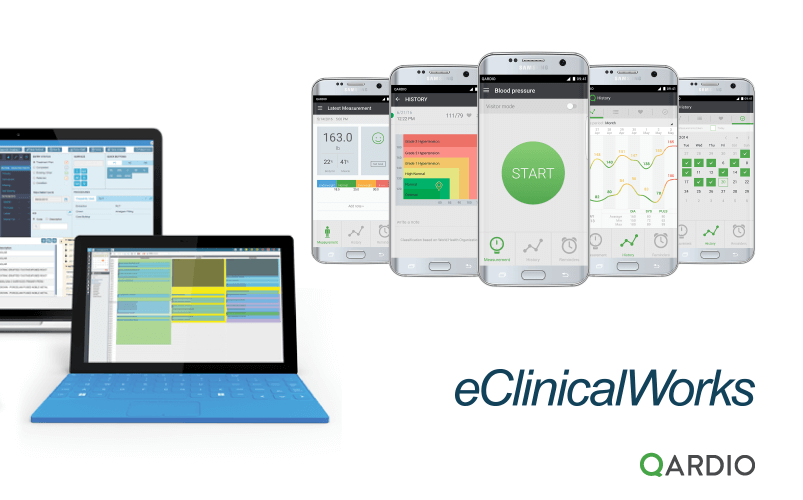 Qardio partners with leading cloud-based EHR system, eClinicalWorks