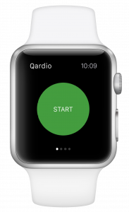 Blood pressure apple watch Qardio App Start Button