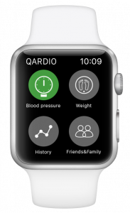 Blood pressure apple watch Qardio App