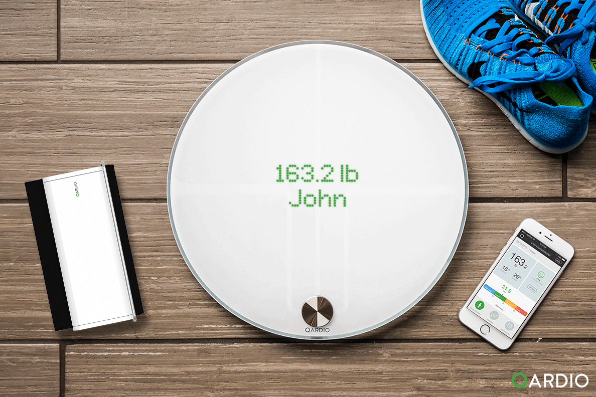 Lose weight with Qardio's smart scale like John