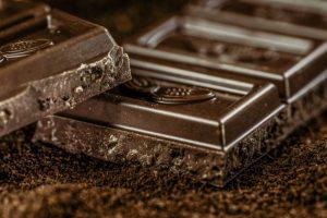 Nutrition food dark chocolate