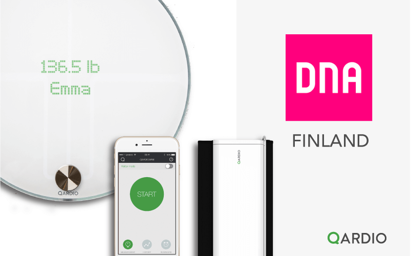 Qardio partners with Finland's largest mobile retailer, DNA