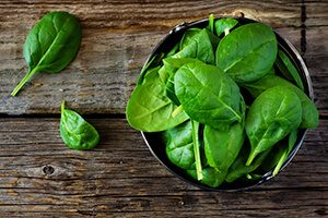 Heart healthy breakfast - spinach lowers blood pressure