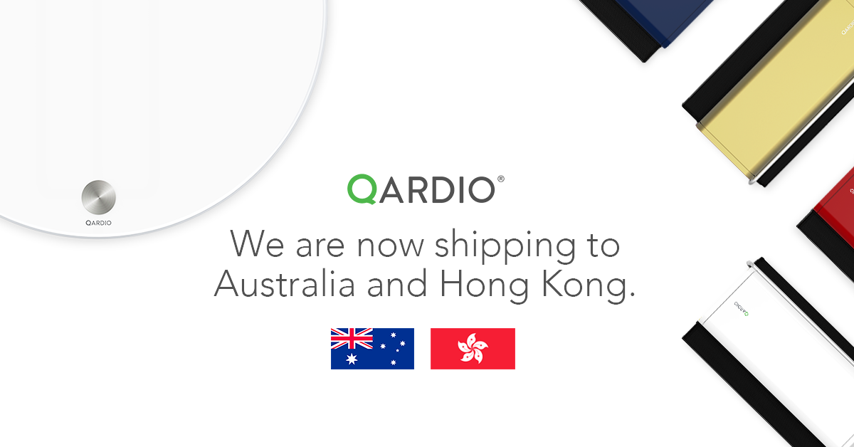Qardio Now Shipping to Australia and Hong Kong