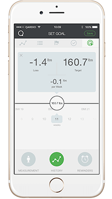 QardioBase smart scale app - the scale for everyone's need