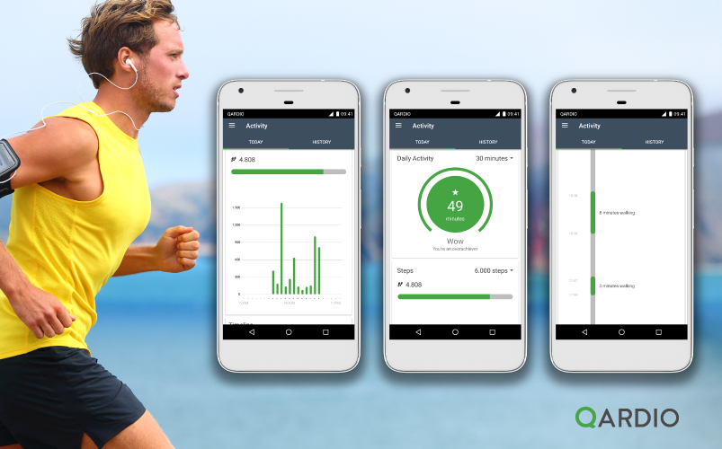 Qardio Launches New Activity and Step Tracking on Android App