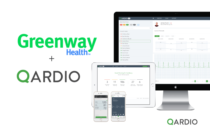 Qardio brings its smart remote monitoring solution to Greenway Health's EHR platform