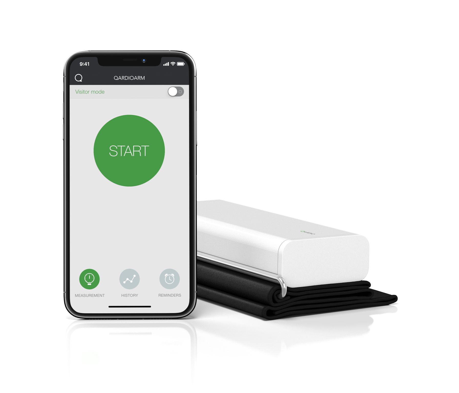 Wireless Blood Pressure app iPhone - QardioArm