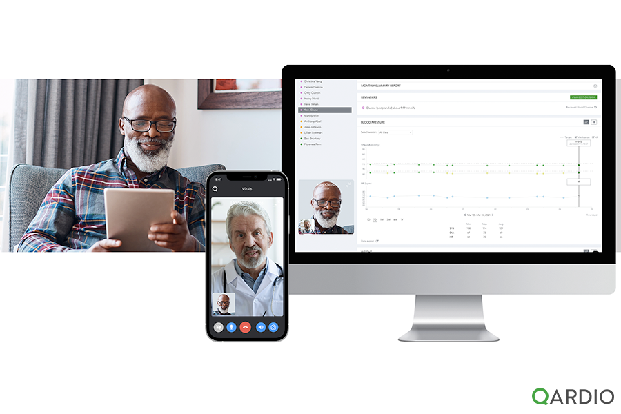 Qardio announces patient video call consultations are now available with QardioMD. The fully integrated remote patient monitoring healthcare service.