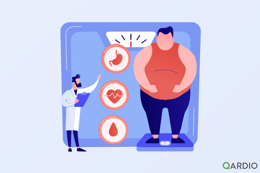 How does being overweight affect your heart health?